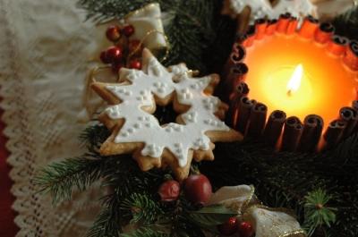 Karácsonyi csillag fenyődísz