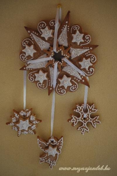 Mézeskalács karácsonyi falidísz