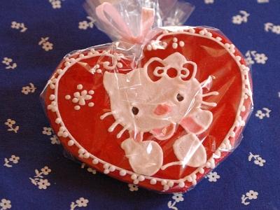 Helló Kitty mézeskalács szív
