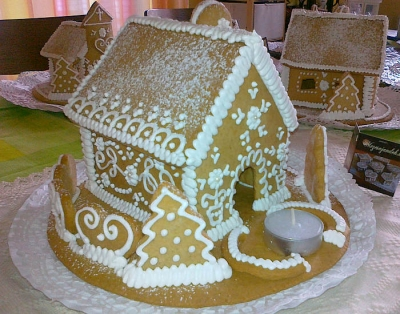 """Nagy mézeskalács ház """"téli"""""""