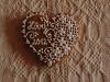 Mézeskalács szívecske